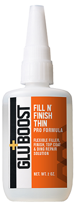 Fill n' Finish Thin | Filler,  Finisher, Top Coat – Flexible Non Creeping Water Clear Wood Finish Formula With Zero to Minimal Witness Lines